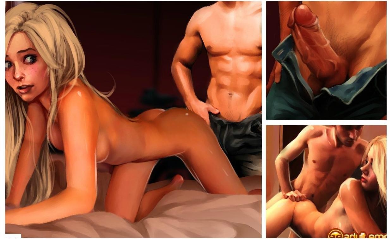 стройным с комиксы рисованном порно в шикарным очаровательная телочка телом