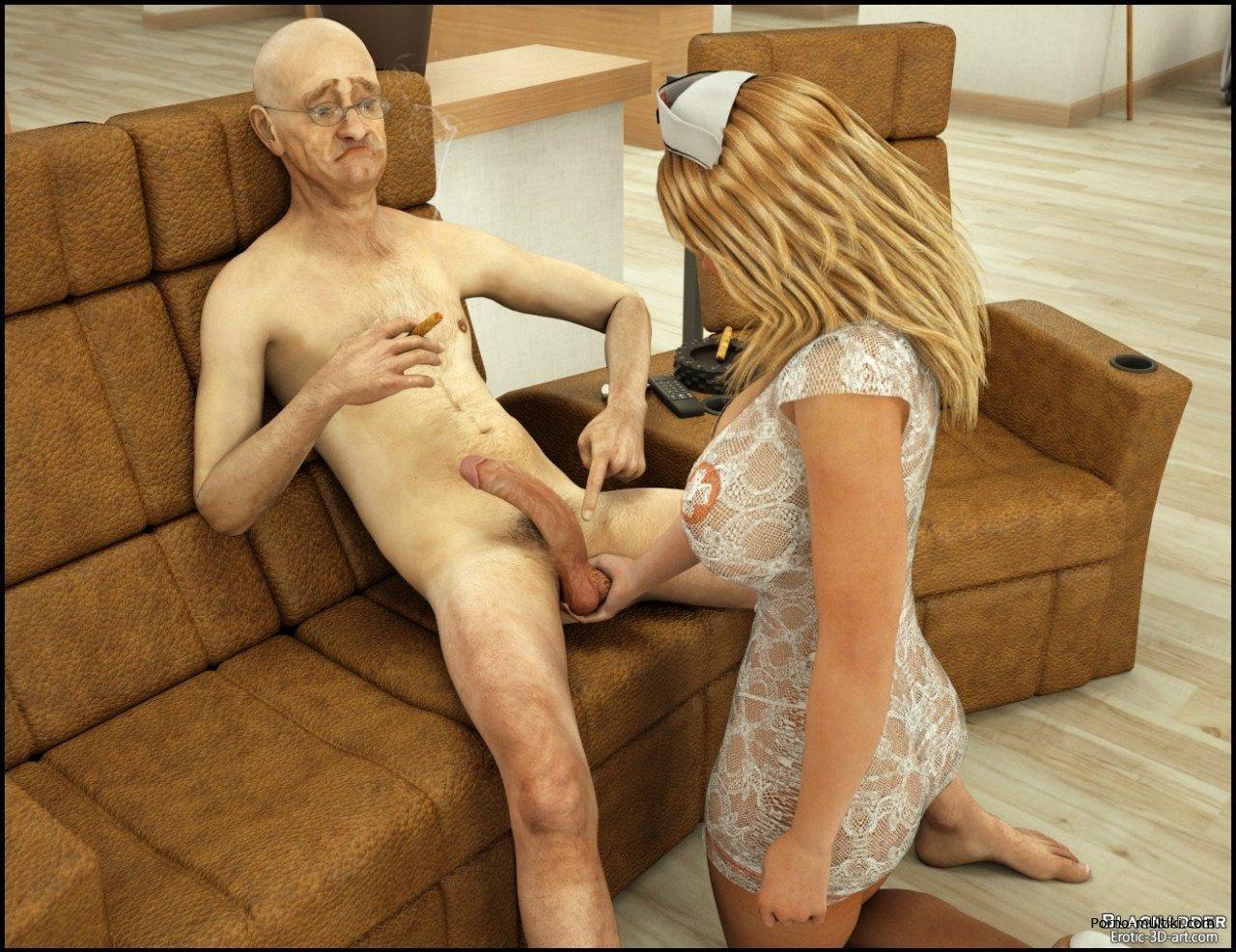 Порно в доме пристарелых
