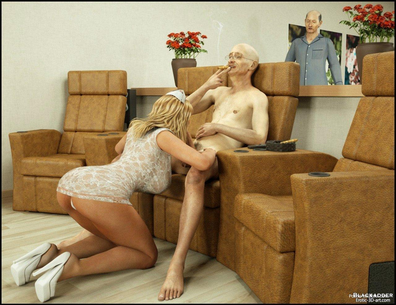 Секс в доме престарелых