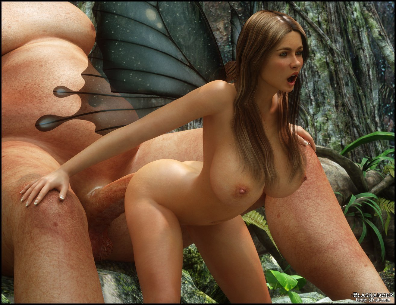 Sex with fairy 3d art naked photo