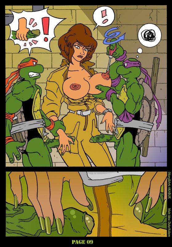 Черепашки ниндзя порно играть
