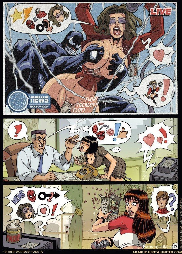 Порно комикс про человека паука