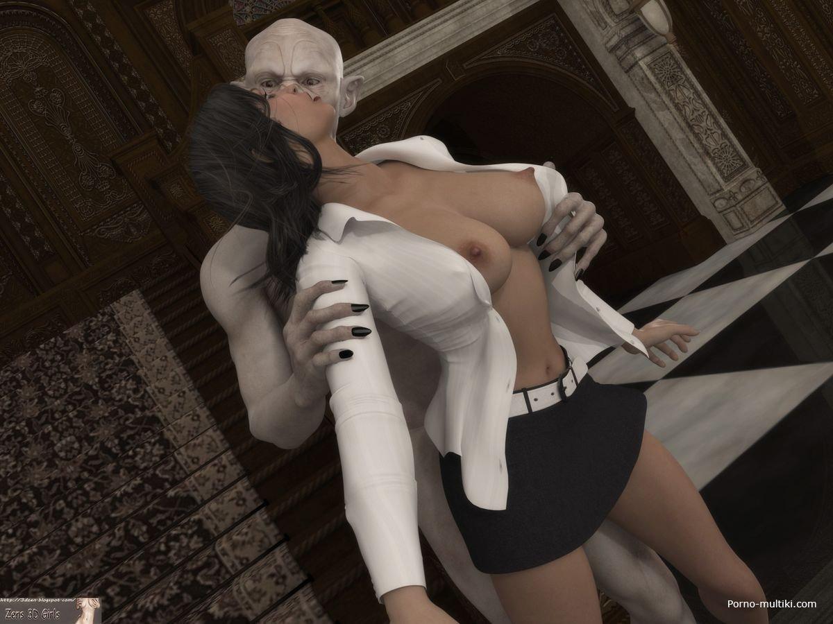 Порно 3д мамы с монстрами