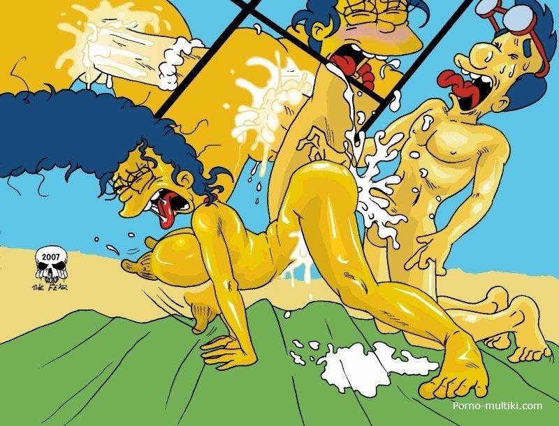 смотреть порно комиксы симпсонов
