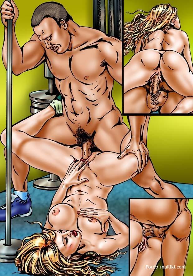 Секс в спортзале хентай 17 фотография