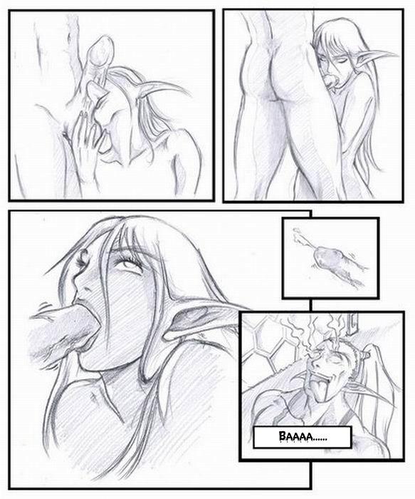 Порно комиксы про вов