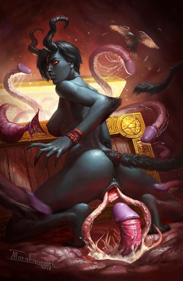 Порно арт демонессы